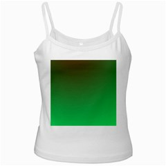 Course Colorful Pattern Abstract White Spaghetti Tank