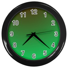 Course Colorful Pattern Abstract Wall Clocks (black)