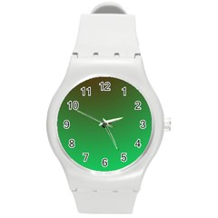 Course Colorful Pattern Abstract Round Plastic Sport Watch (m)