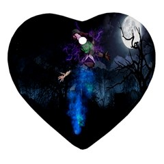 Magical Fantasy Wild Darkness Mist Ornament (heart)