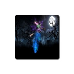 Magical Fantasy Wild Darkness Mist Square Magnet