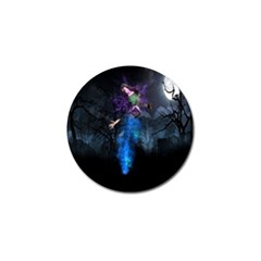 Magical Fantasy Wild Darkness Mist Golf Ball Marker (4 Pack)