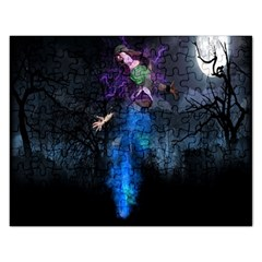Magical Fantasy Wild Darkness Mist Rectangular Jigsaw Puzzl