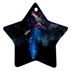 Magical Fantasy Wild Darkness Mist Star Ornament (two Sides)