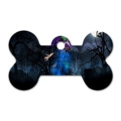 Magical Fantasy Wild Darkness Mist Dog Tag Bone (one Side)