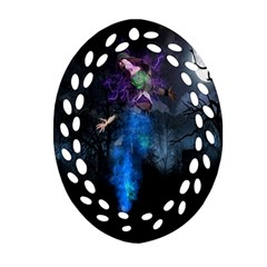 Magical Fantasy Wild Darkness Mist Oval Filigree Ornament (two Sides)