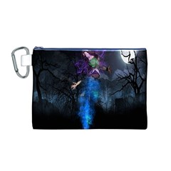 Magical Fantasy Wild Darkness Mist Canvas Cosmetic Bag (m)