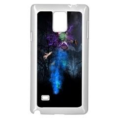 Magical Fantasy Wild Darkness Mist Samsung Galaxy Note 4 Case (white)