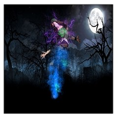 Magical Fantasy Wild Darkness Mist Large Satin Scarf (square)