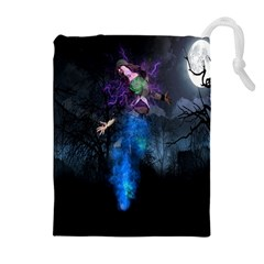 Magical Fantasy Wild Darkness Mist Drawstring Pouches (extra Large)