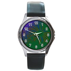 Sylvester New Year S Day Year Party Round Metal Watch
