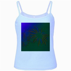 Sylvester New Year S Day Year Party Baby Blue Spaghetti Tank