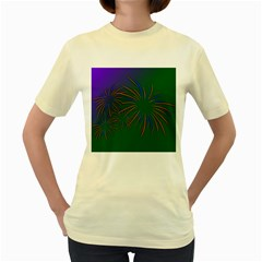 Sylvester New Year S Day Year Party Women s Yellow T Shirt