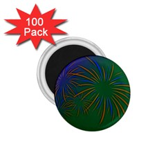 Sylvester New Year S Day Year Party 1 75  Magnets (100 Pack)