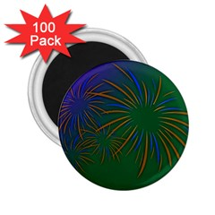 Sylvester New Year S Day Year Party 2 25  Magnets (100 Pack)