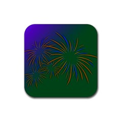 Sylvester New Year S Day Year Party Rubber Square Coaster (4 Pack)