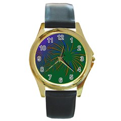 Sylvester New Year S Day Year Party Round Gold Metal Watch