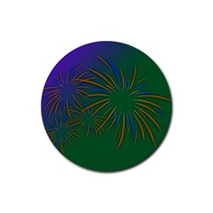 Sylvester New Year S Day Year Party Rubber Round Coaster (4 Pack)