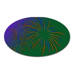 Sylvester New Year S Day Year Party Oval Magnet