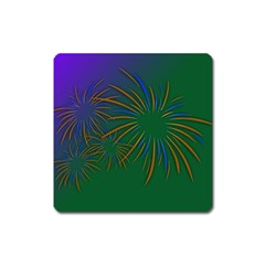 Sylvester New Year S Day Year Party Square Magnet