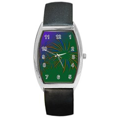 Sylvester New Year S Day Year Party Barrel Style Metal Watch