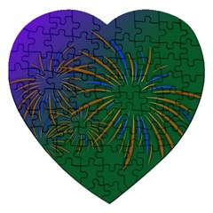 Sylvester New Year S Day Year Party Jigsaw Puzzle (heart)