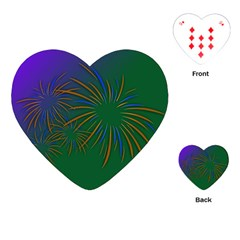 Sylvester New Year S Day Year Party Playing Cards (heart)