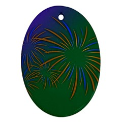 Sylvester New Year S Day Year Party Oval Ornament (two Sides)