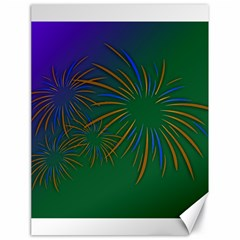 Sylvester New Year S Day Year Party Canvas 18  X 24