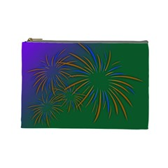 Sylvester New Year S Day Year Party Cosmetic Bag (large)