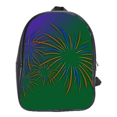 Sylvester New Year S Day Year Party School Bag (large)