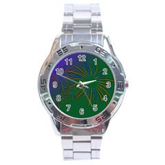 Sylvester New Year S Day Year Party Stainless Steel Analogue Watch