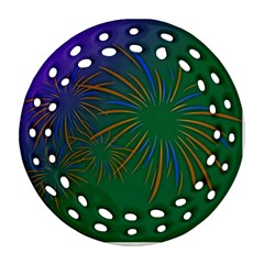 Sylvester New Year S Day Year Party Ornament (round Filigree)