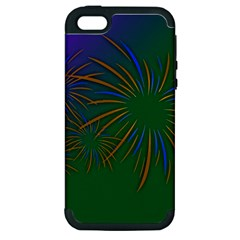 Sylvester New Year S Day Year Party Apple Iphone 5 Hardshell Case (pc+silicone)