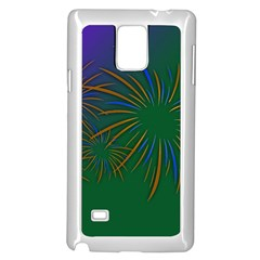 Sylvester New Year S Day Year Party Samsung Galaxy Note 4 Case (white)