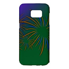 Sylvester New Year S Day Year Party Samsung Galaxy S7 Edge Hardshell Case