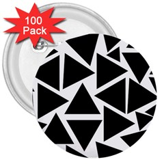 Template Black Triangle 3  Buttons (100 Pack)
