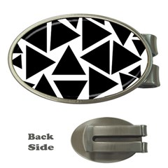 Template Black Triangle Money Clips (oval)