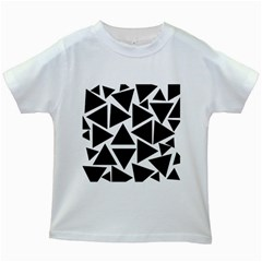Template Black Triangle Kids White T Shirts