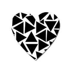 Template Black Triangle Heart Magnet