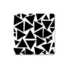Template Black Triangle Square Magnet