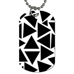 Template Black Triangle Dog Tag (one Side)