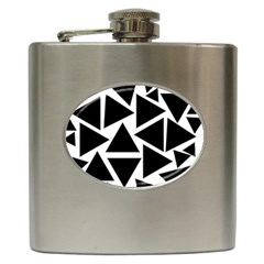 Template Black Triangle Hip Flask (6 Oz)