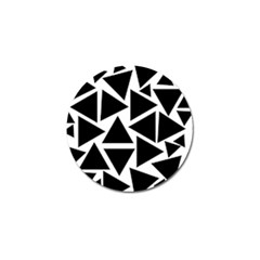 Template Black Triangle Golf Ball Marker (4 Pack)