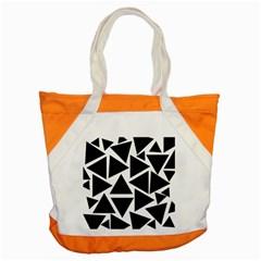 Template Black Triangle Accent Tote Bag