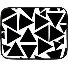 Template Black Triangle Fleece Blanket (mini)