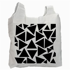 Template Black Triangle Recycle Bag (two Side)