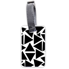 Template Black Triangle Luggage Tags (one Side)