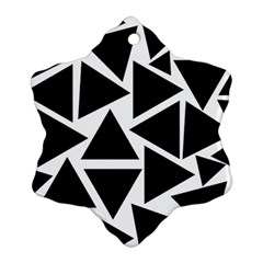 Template Black Triangle Snowflake Ornament (two Sides)