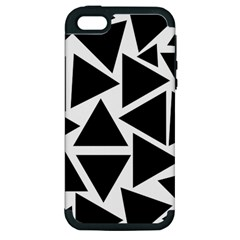 Template Black Triangle Apple Iphone 5 Hardshell Case (pc+silicone)